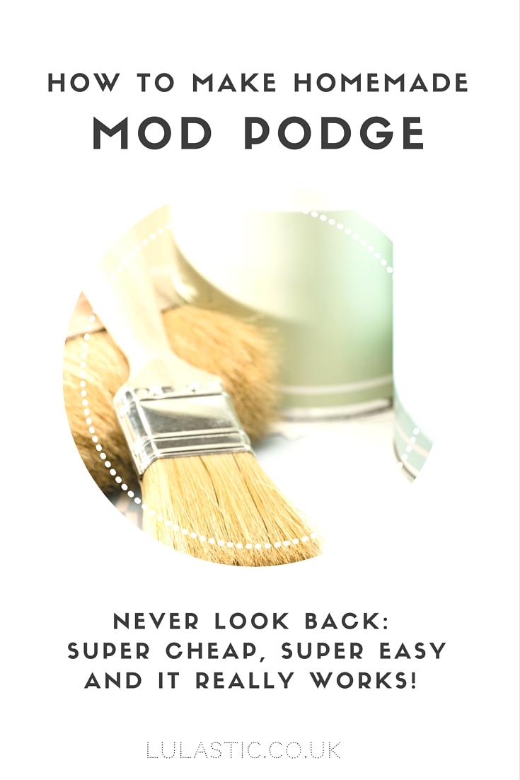Homemade Mod Podge - the actual recipe