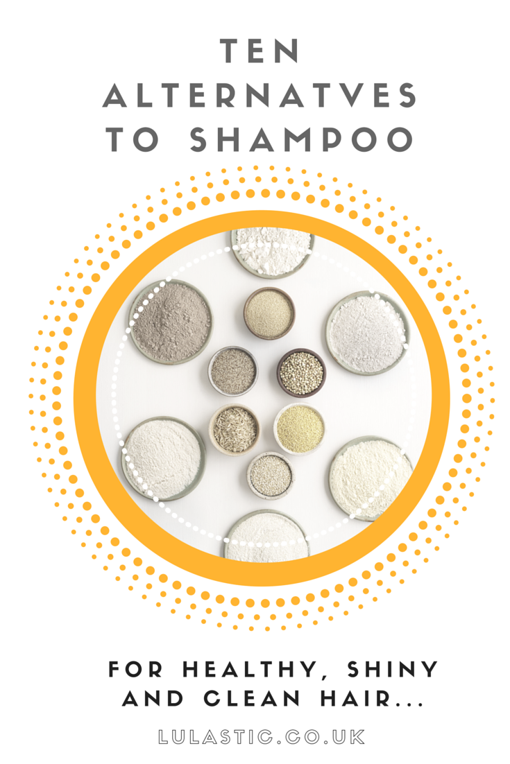 Ten Shampoo Alternatives for healthy, shiny and clean hair