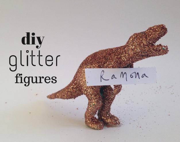 diy glitter figures