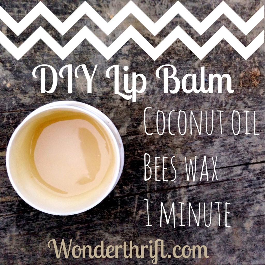 coconut oil bees wax lip balm