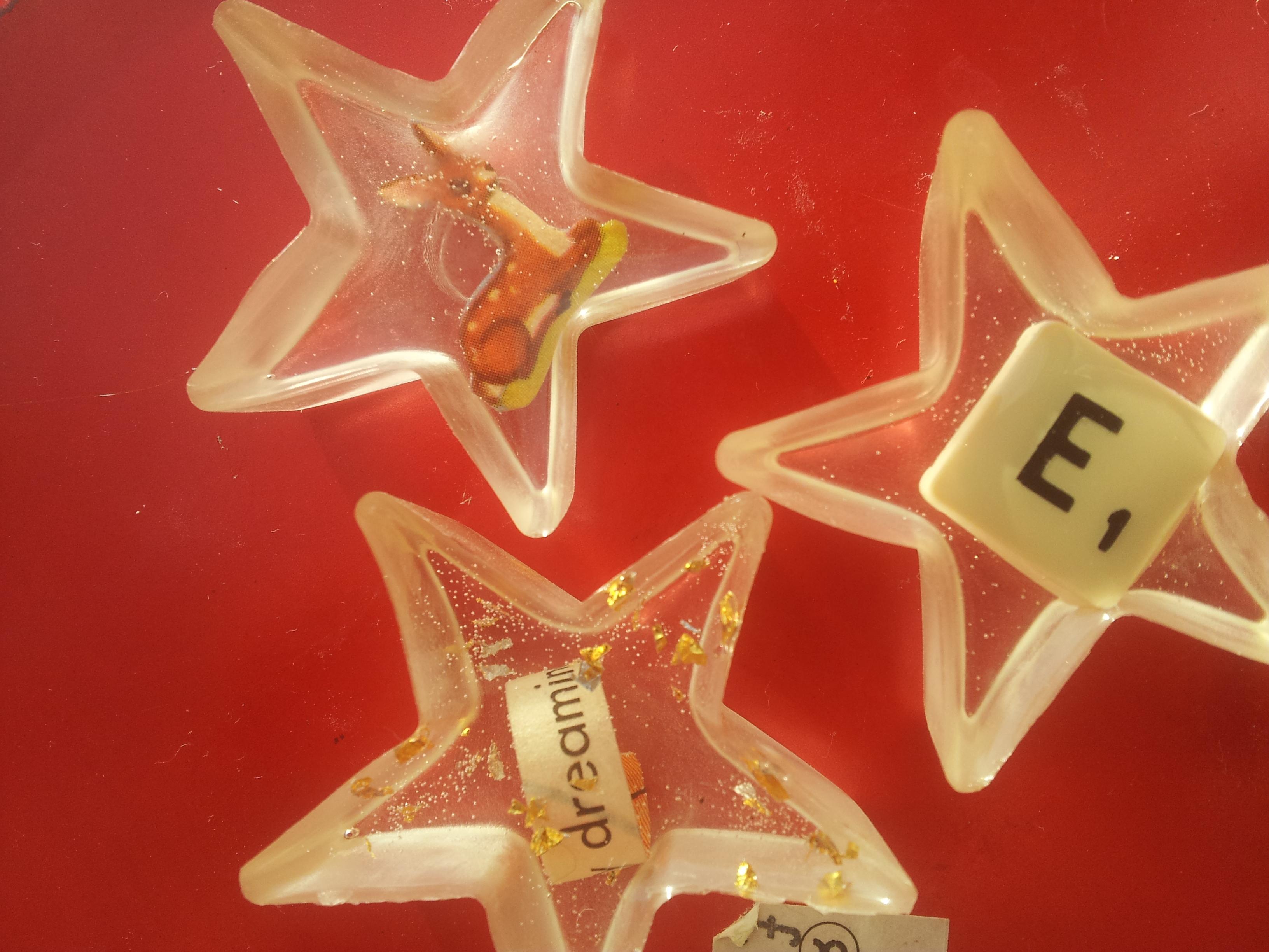 handmade resin stars