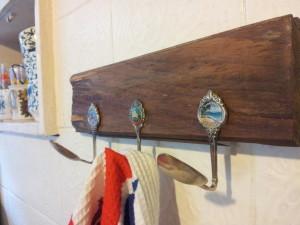 Vintage spoon peg rack