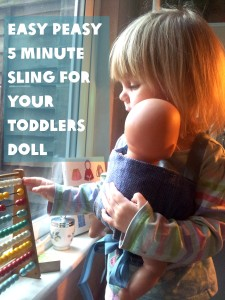 DIY sling for toddlers doll