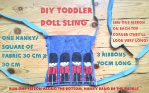 easy quick toddler doll sling