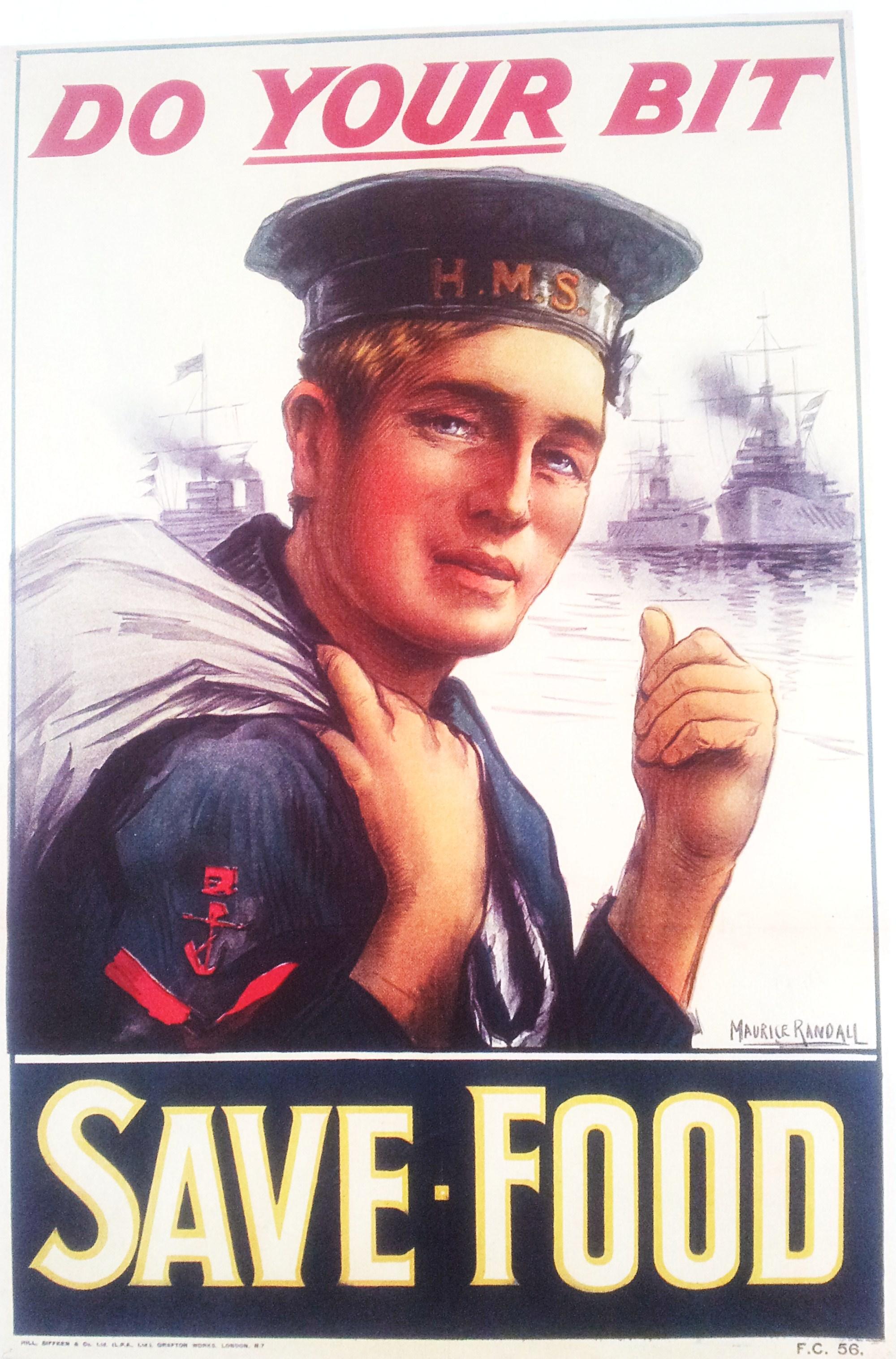 Save Food vintage poster