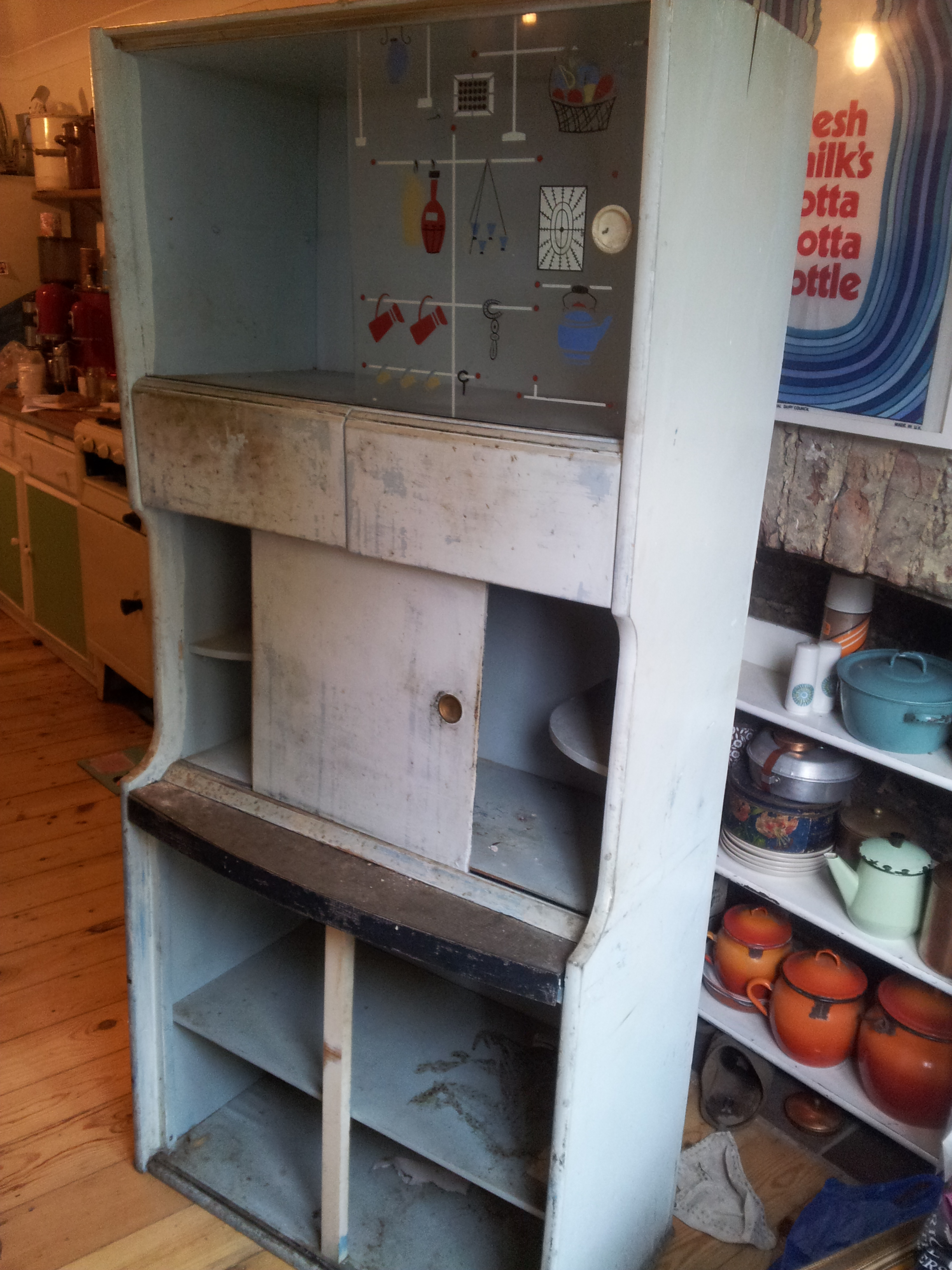 old 1950's kitchen cabinet