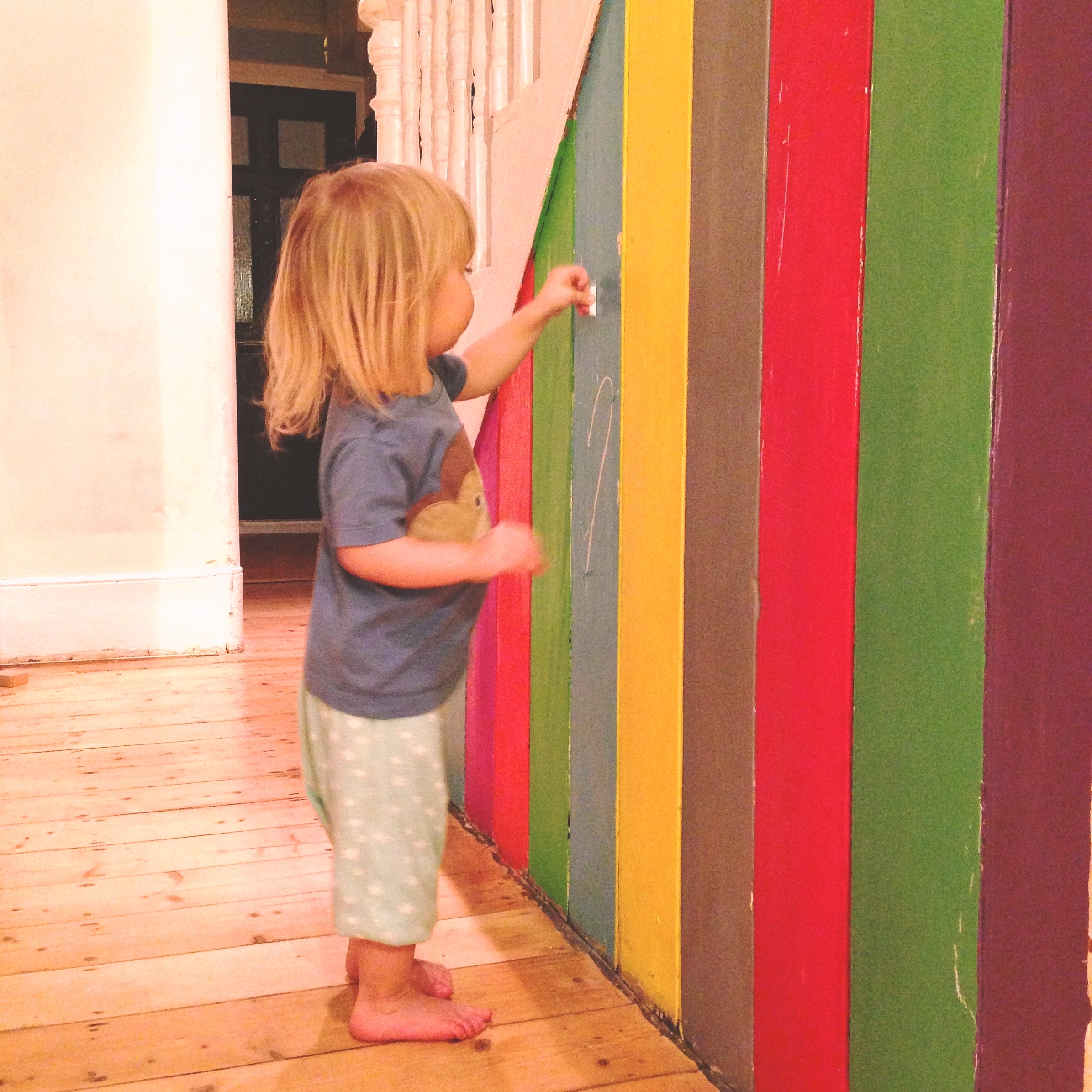 Homemade Chalk Board paint wall
