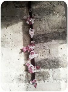 retro fabric valentines birds craft