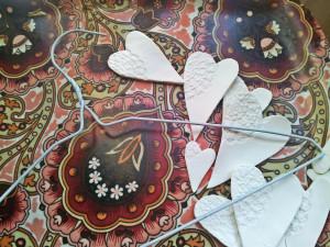 DIY air dry hearts doily