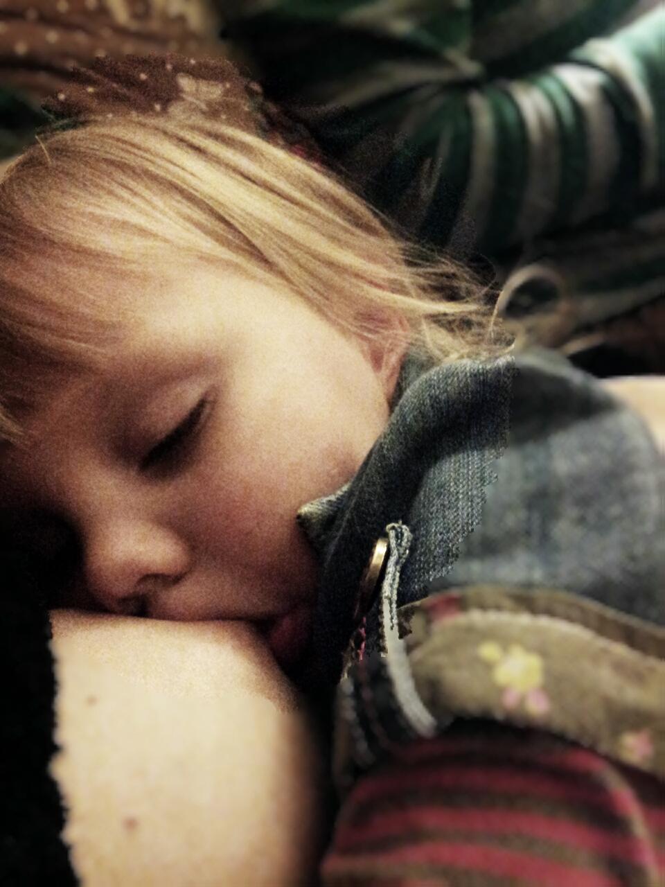 My sleepy nursling