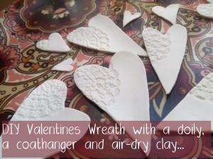 Homemade Valentines Wreath tutorial