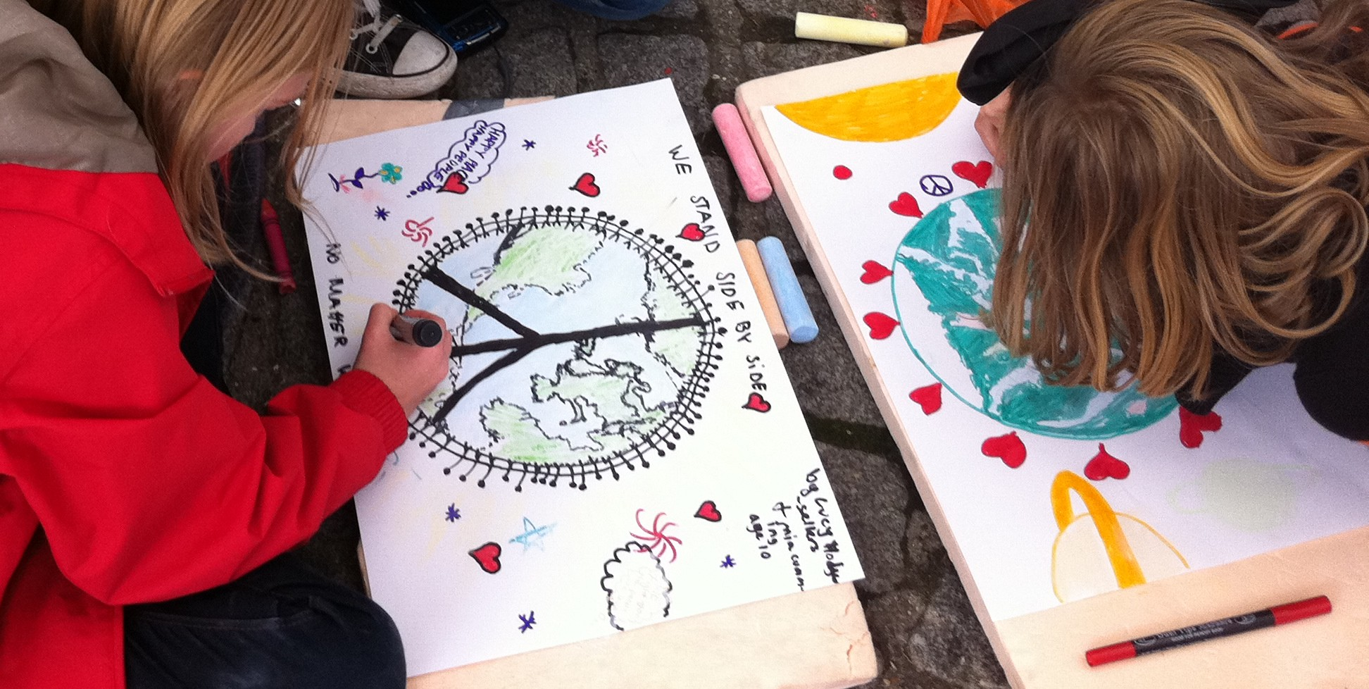 We held family fun days at Occupy with arts and crafts and  a bouncy castle