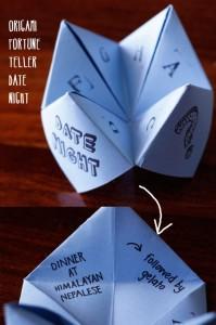 origami valentines date craft