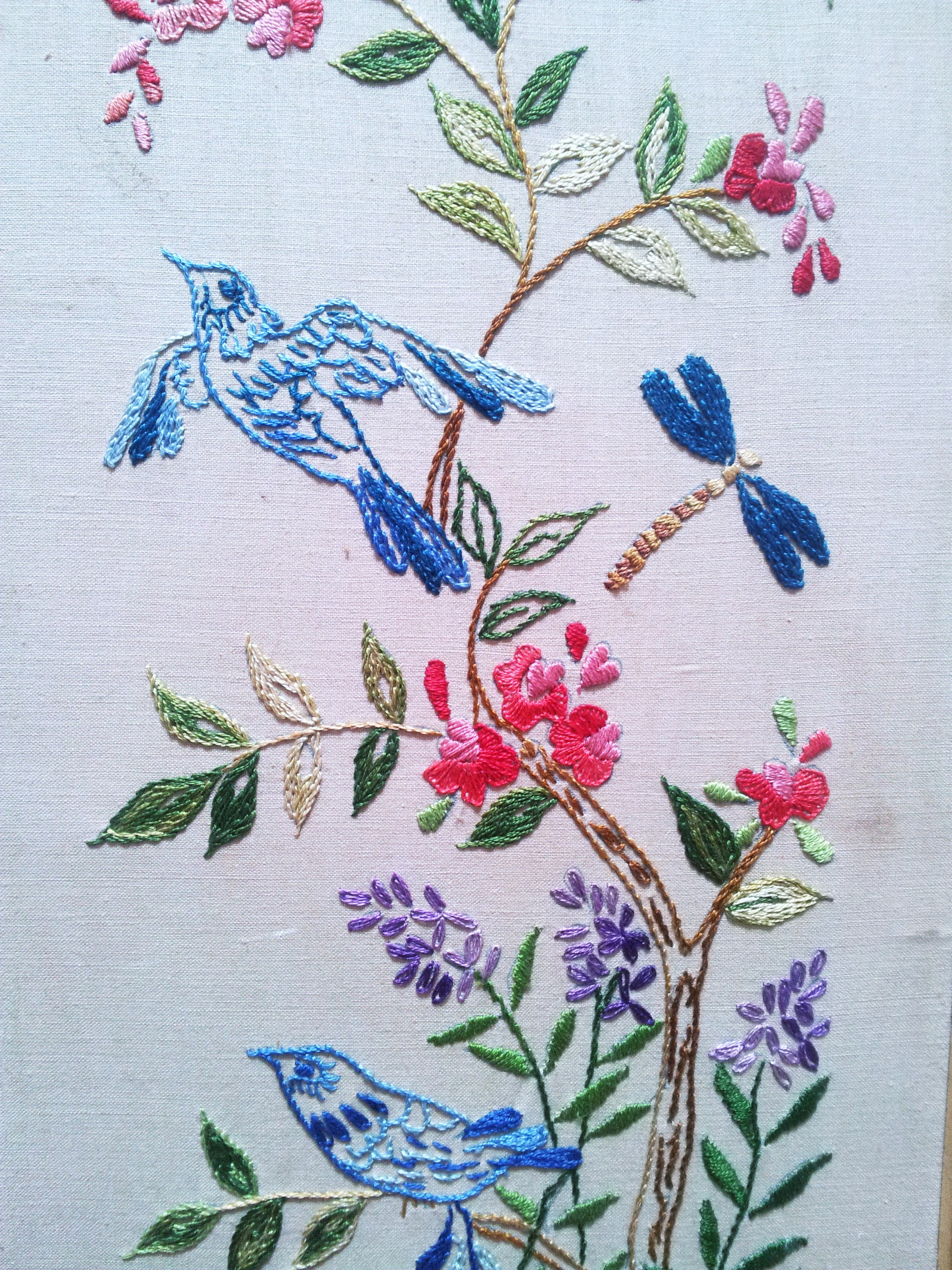 retro embroidery