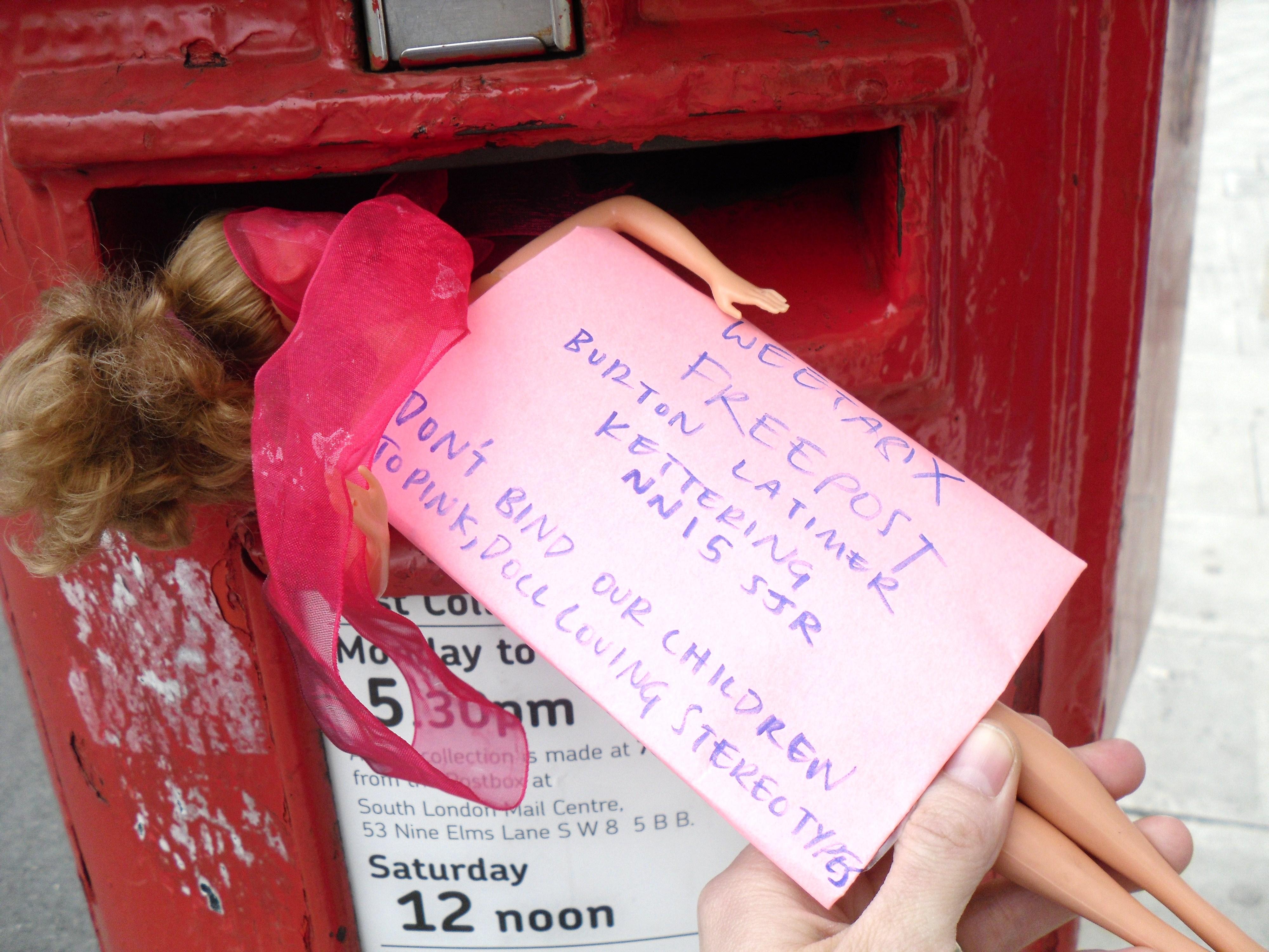 Barbie Mail Weetabix Gender Protest