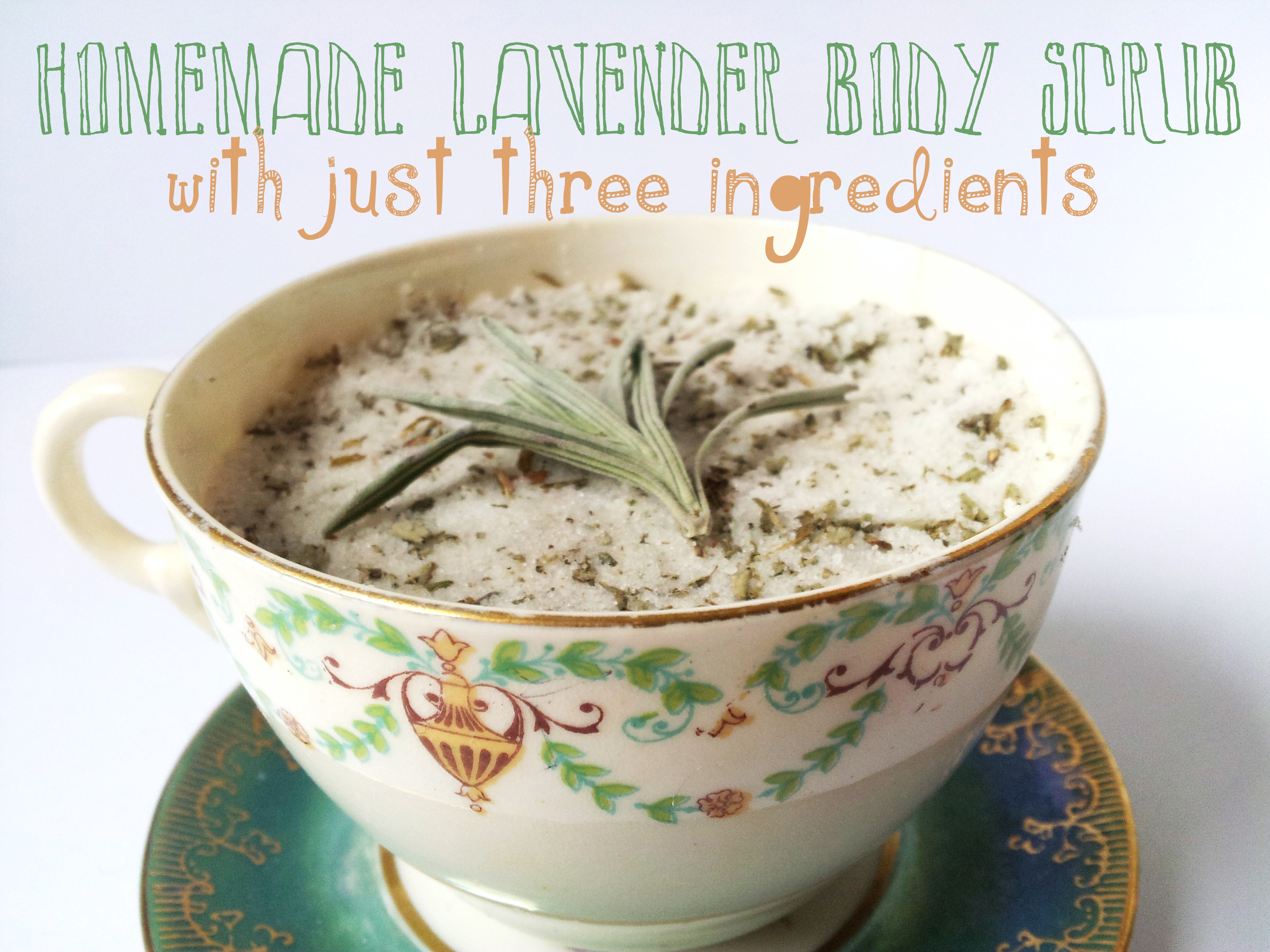 Homamde Body Scrub in a Teacup
