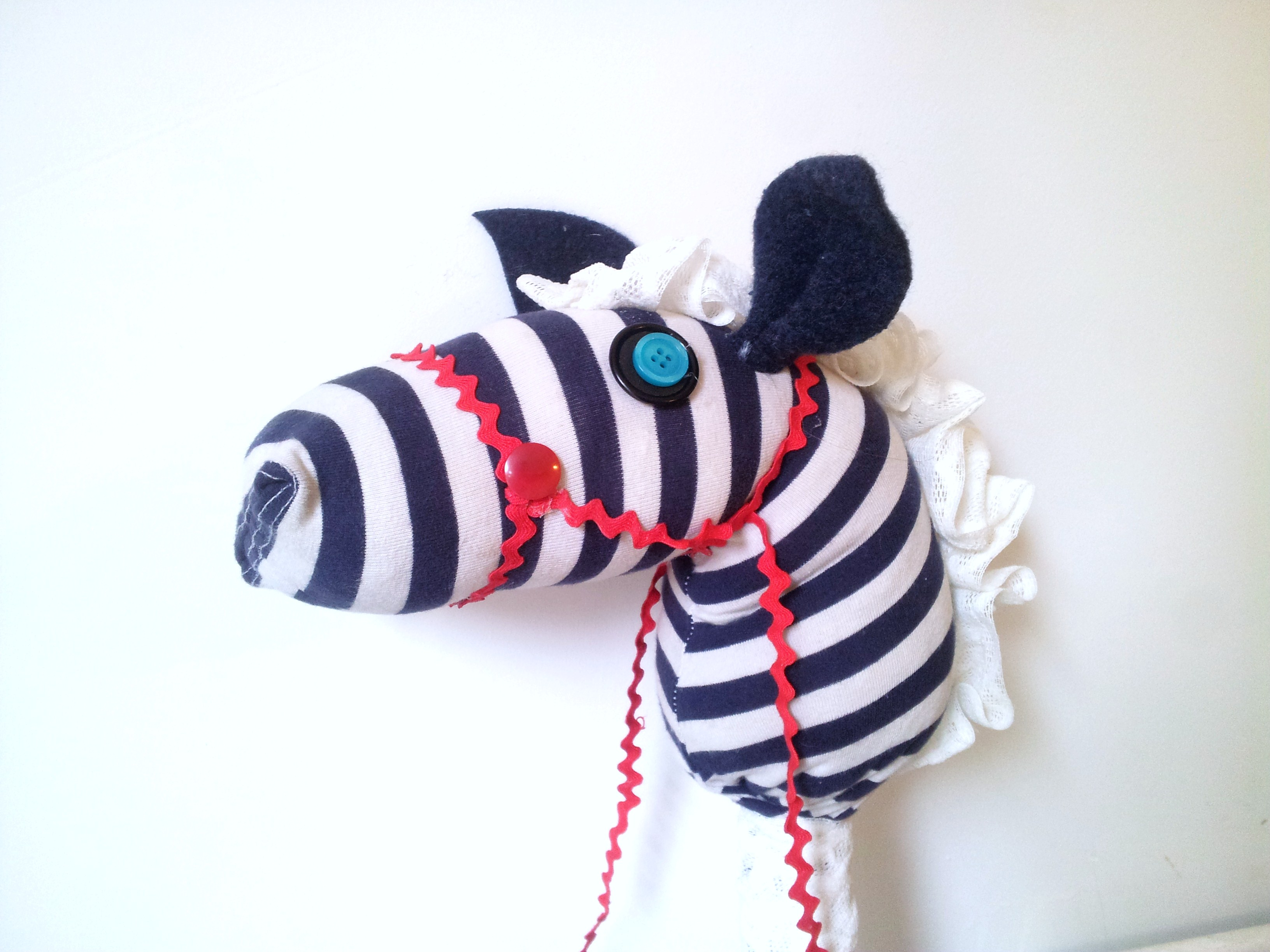 DIY Hobby Horse from recycled bits and bobs