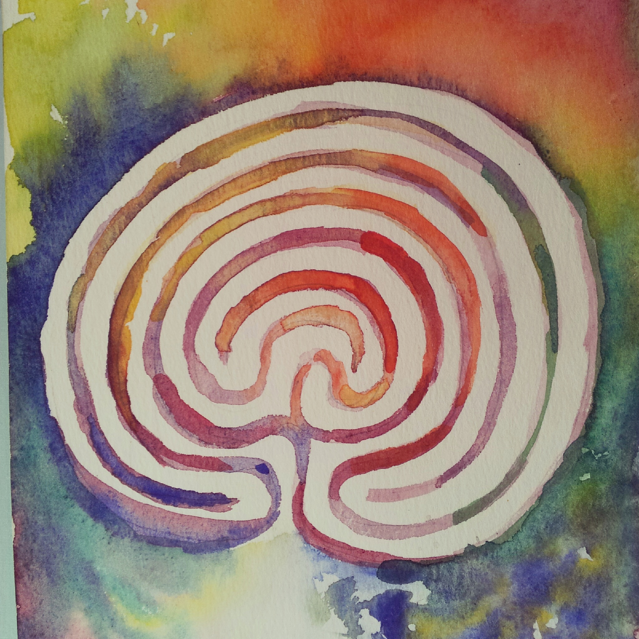 Labyrinth Birth Painting