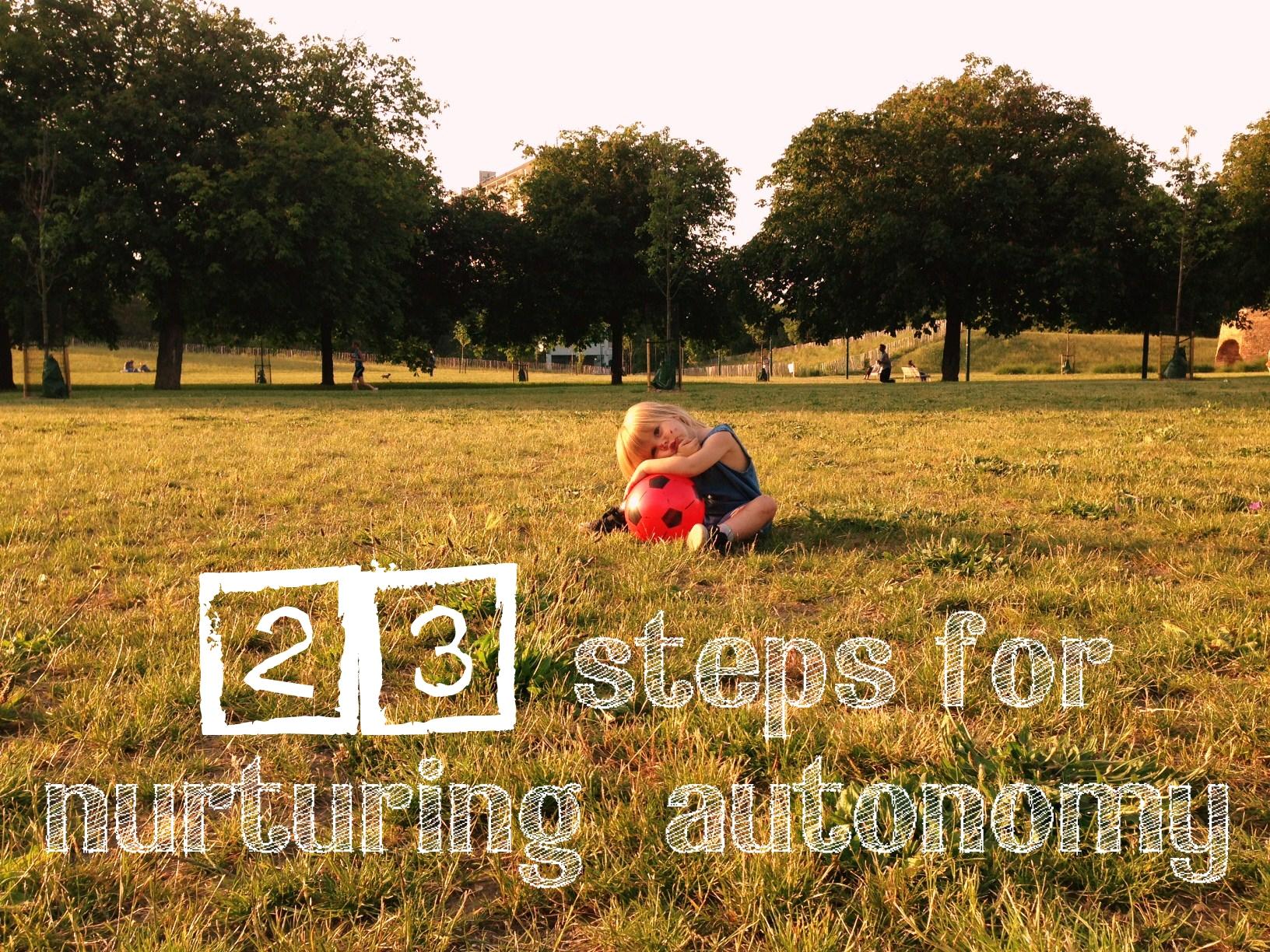 Nurturing autonomy in toddlers