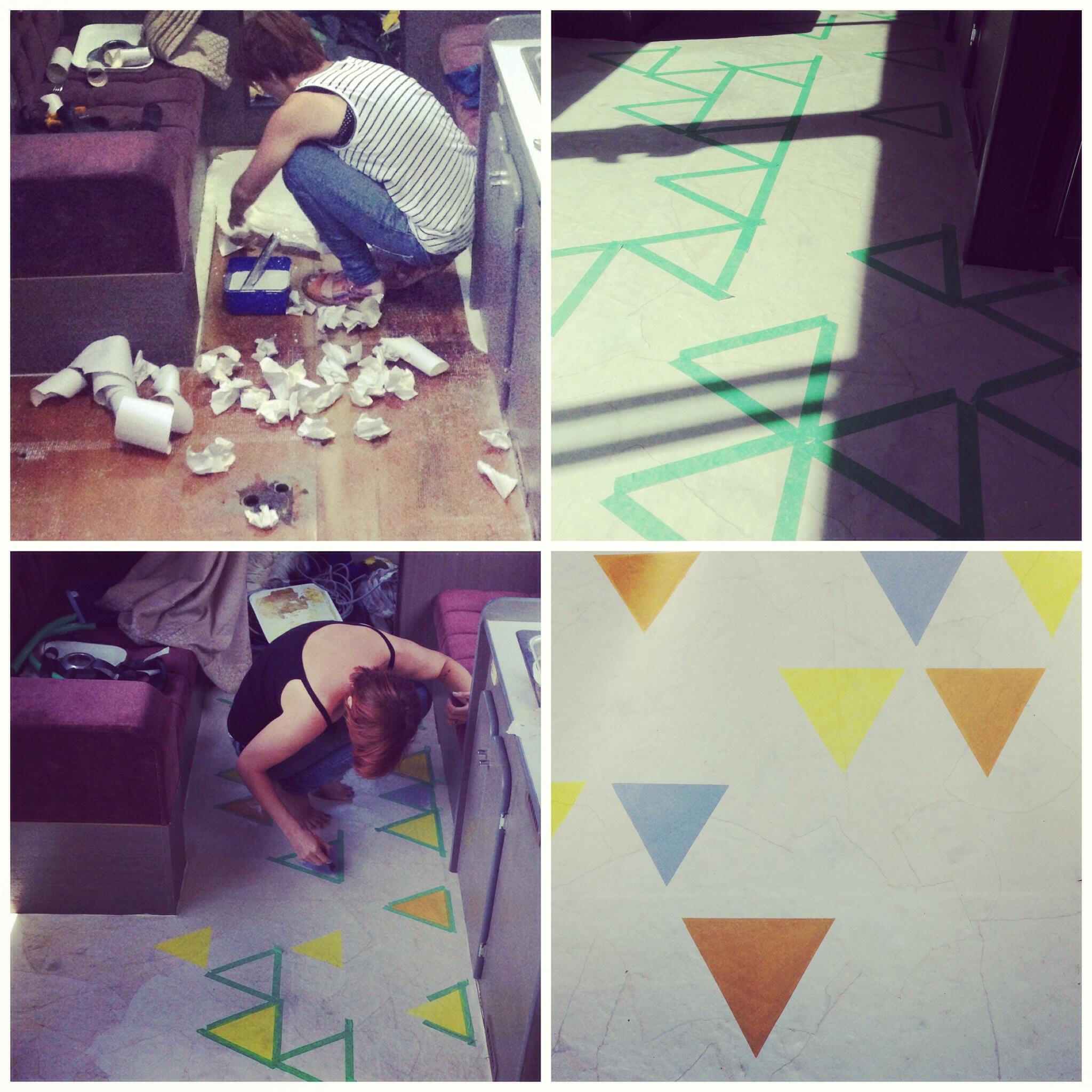 recycled flooring DIY