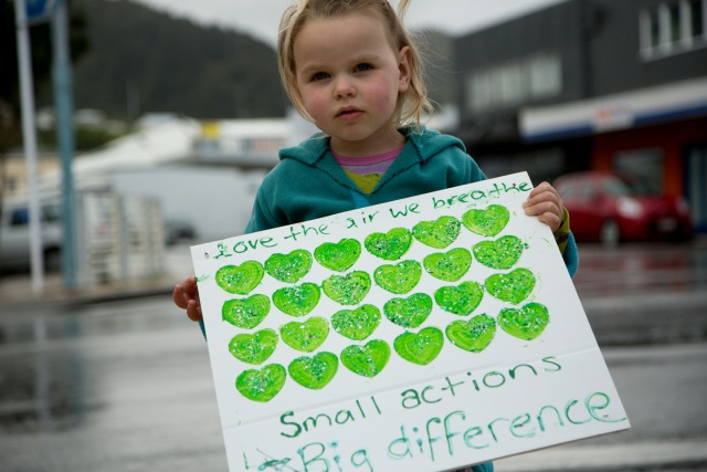 climate change rally thames nz