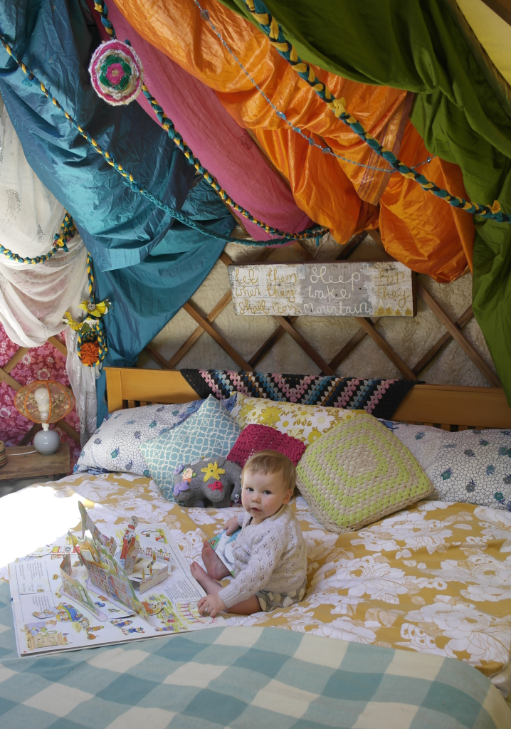 Beautiful Family Bed in a yurt