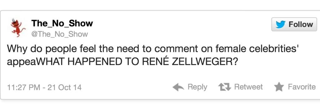 Renee Zellweger Tweet