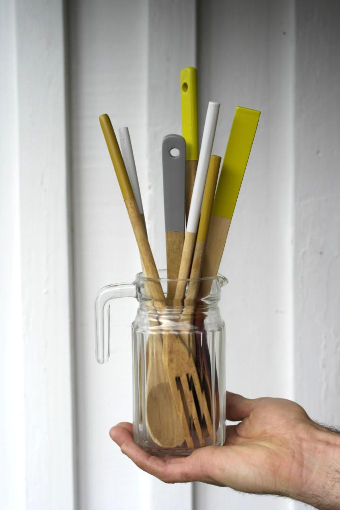 Secondhand wooden utensils craft