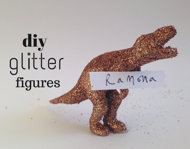 DIY Christmas Glitter Figures
