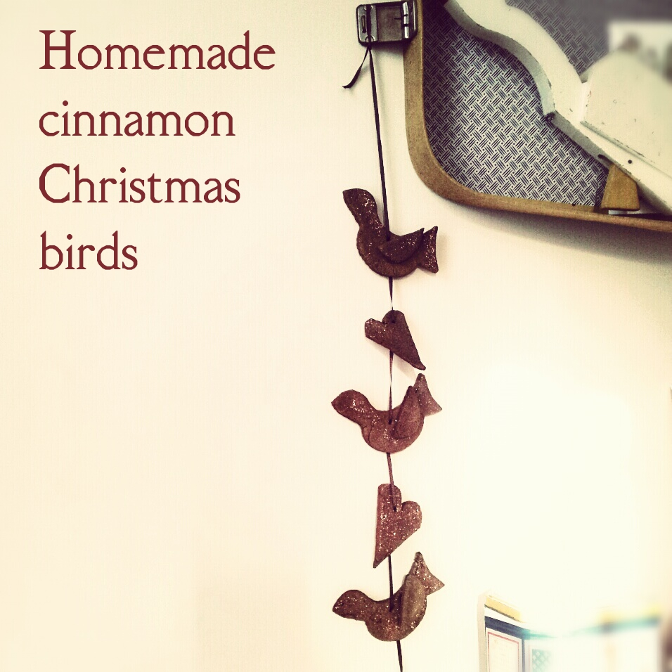 Homemade cinnamon Christmas birds