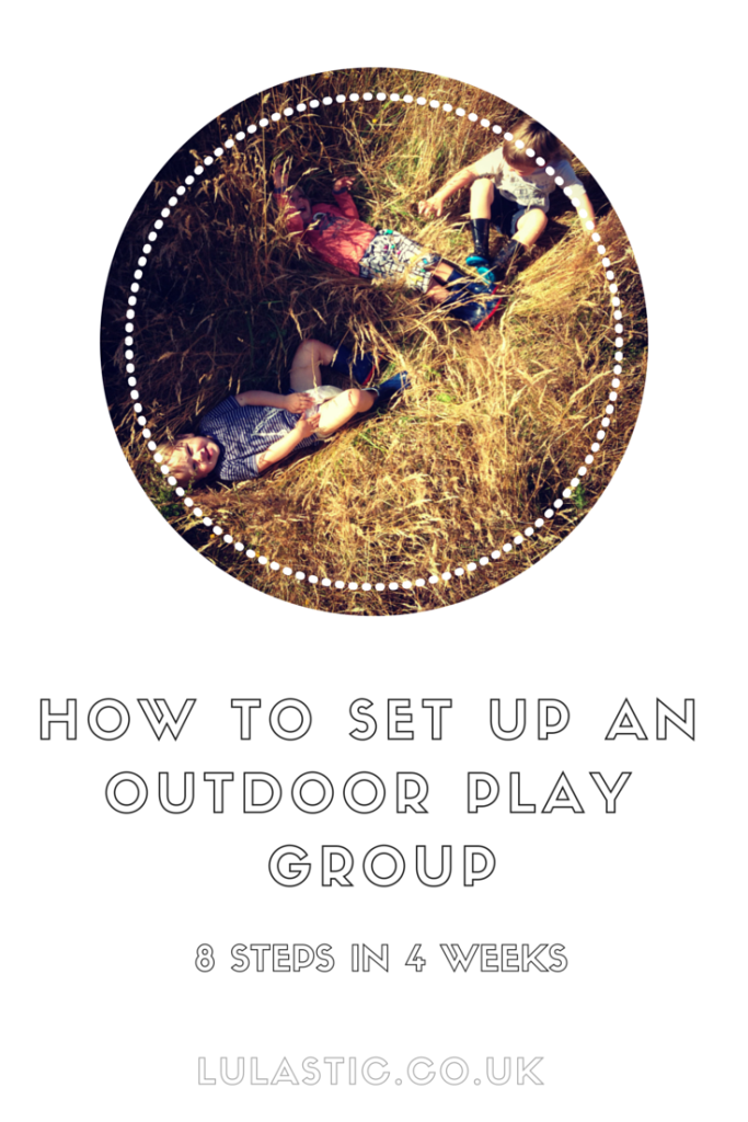 How to set up an outdoor play group amongst nature