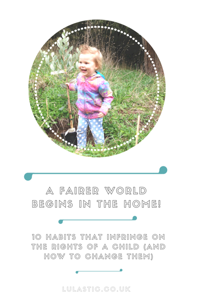 Habits that impede rights of child in the home (and how to change them)