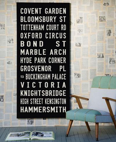 London-on-wall