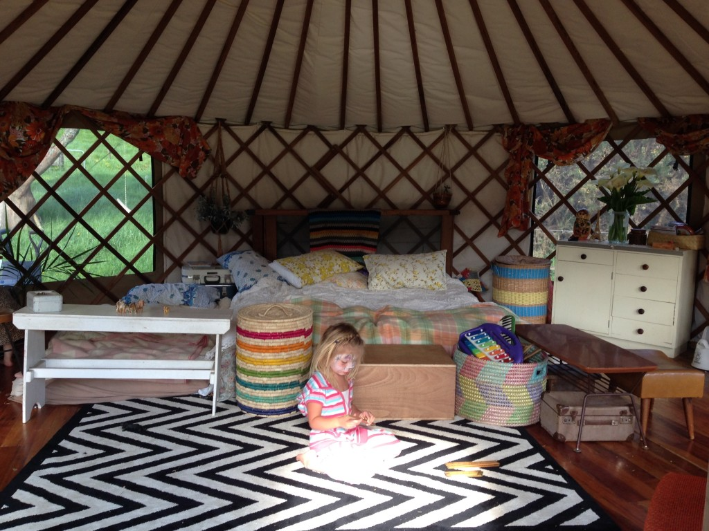 Family Living in a Yurt