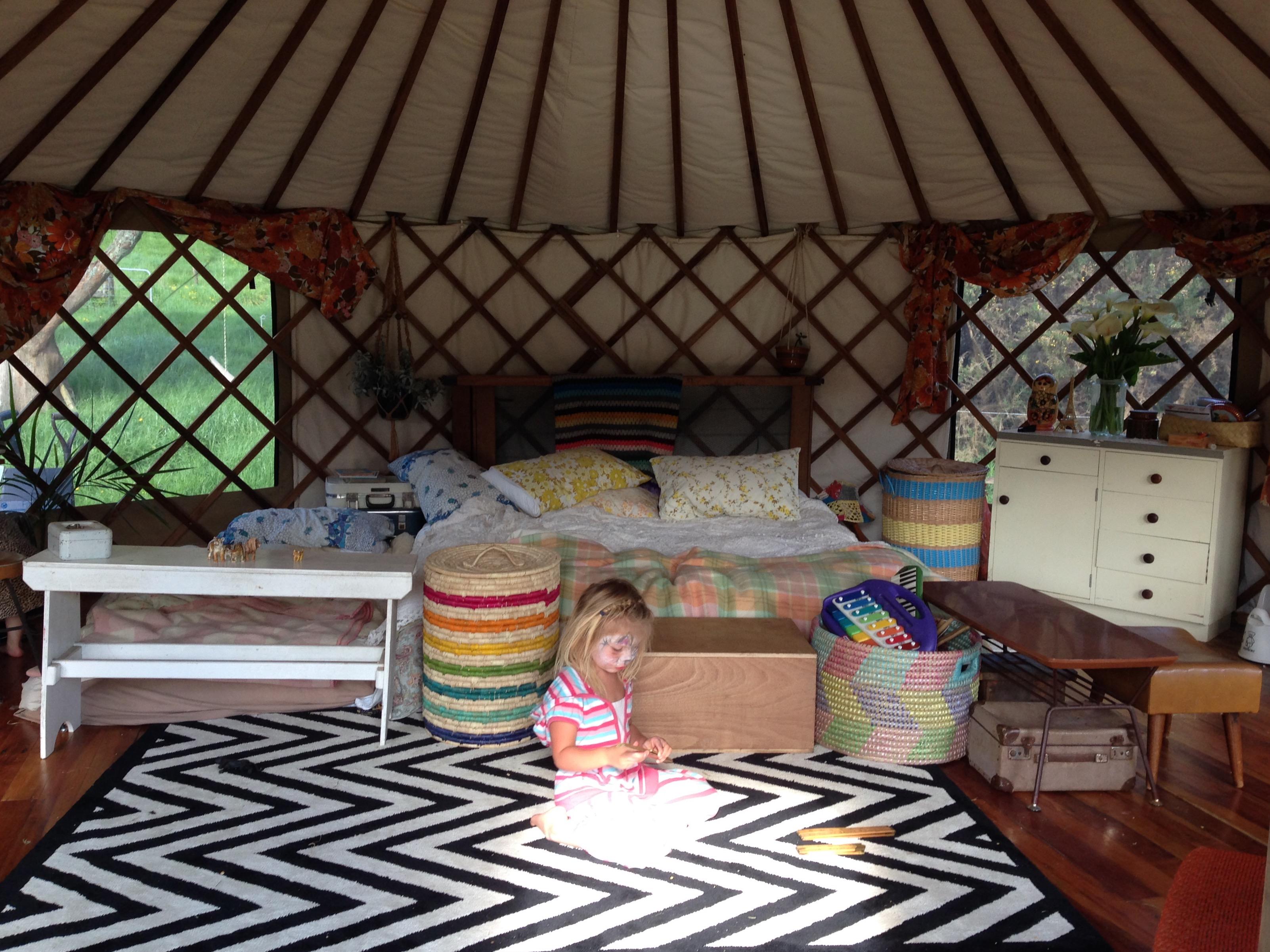 Family Living in a Yurt