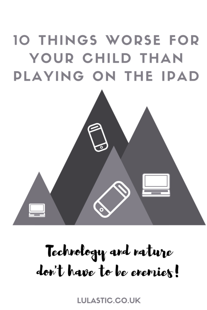 """oceans and ipads shouldn't be pitted against each other""  - you are ot a bad, neglectful parent if you love seeing your kid having fun with screens :D"
