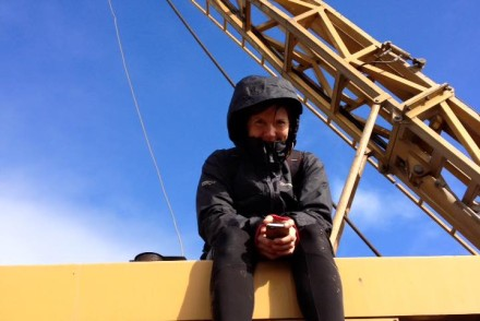 Anti mining protesters occupy rig on mountain