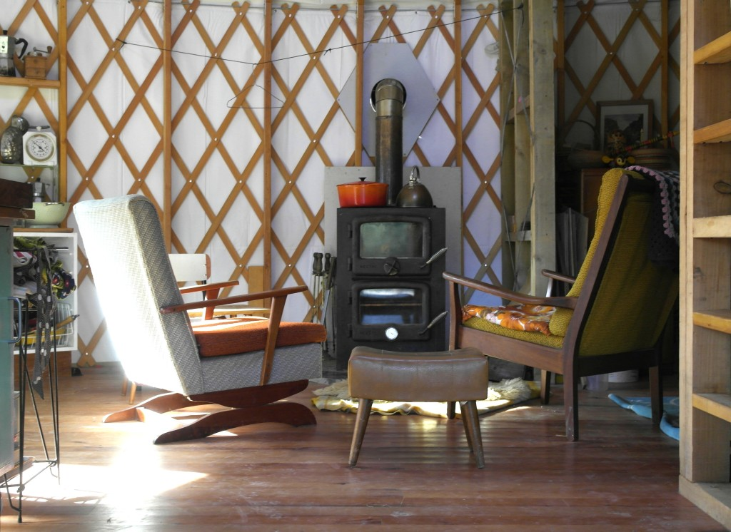 Living in a yurt in the wintertime