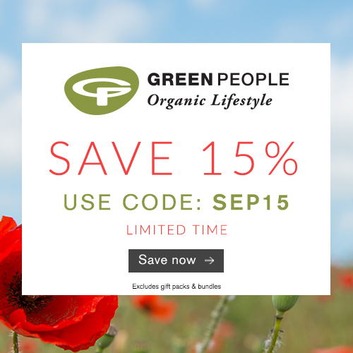 15% off organic skin and beauty