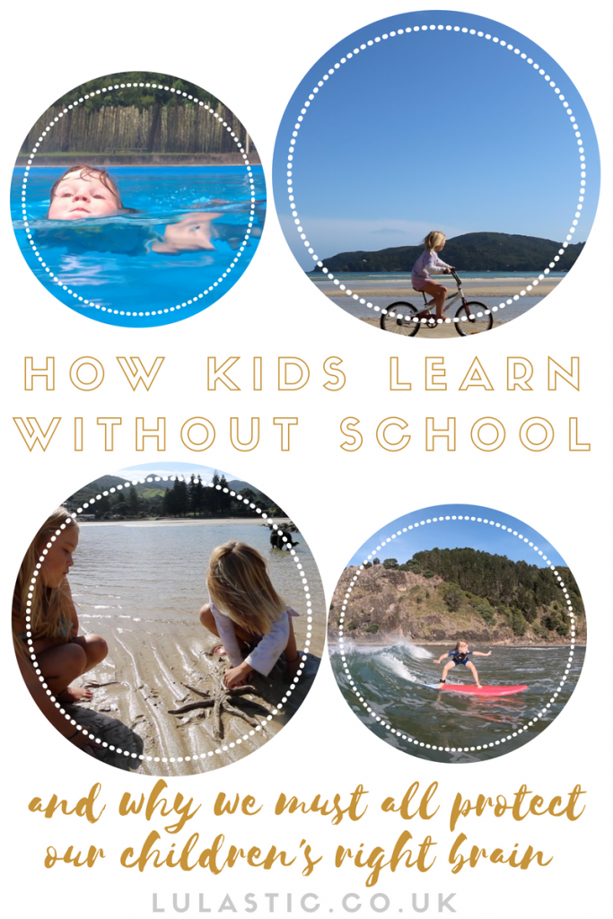How do kids learn without school? Leftbrain, right brain and unschooling