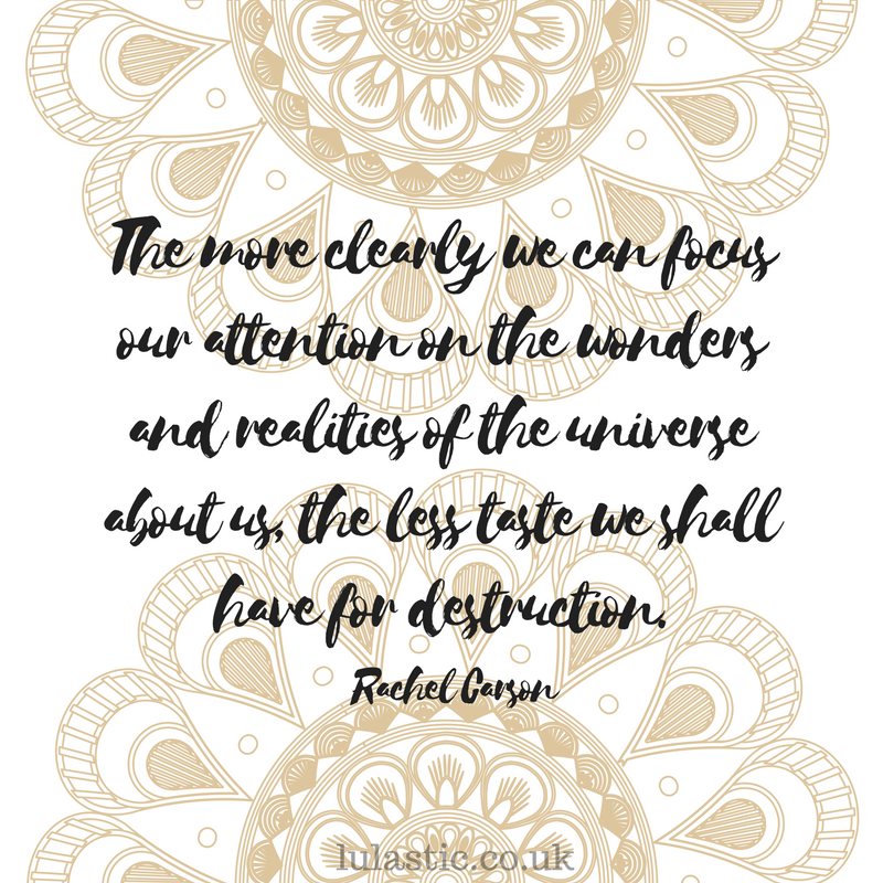 The more clearly we can focus our attention on the wonders and realities of the universe about us, the less taste we shall have for destruction.""